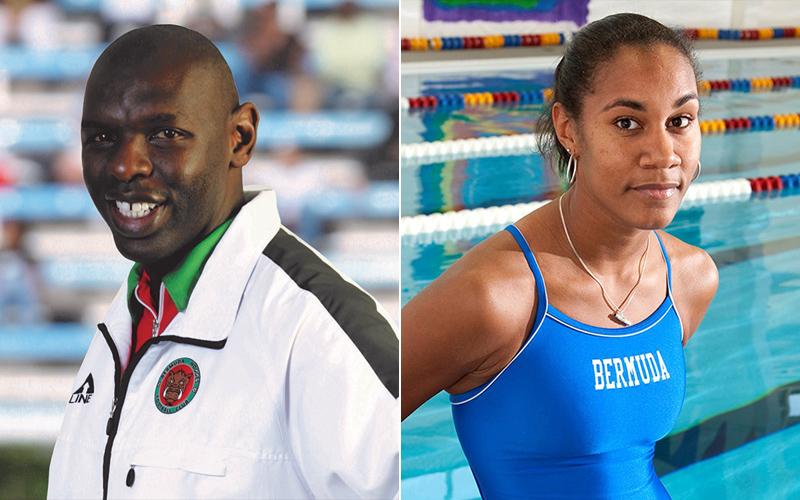 Shaun Goater and Katura Horton-Perinchief Bermuda Aug 2019