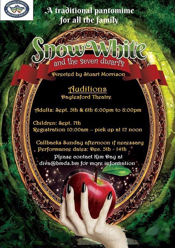 Snow White Pantomine Audition Bermuda Aug 2019