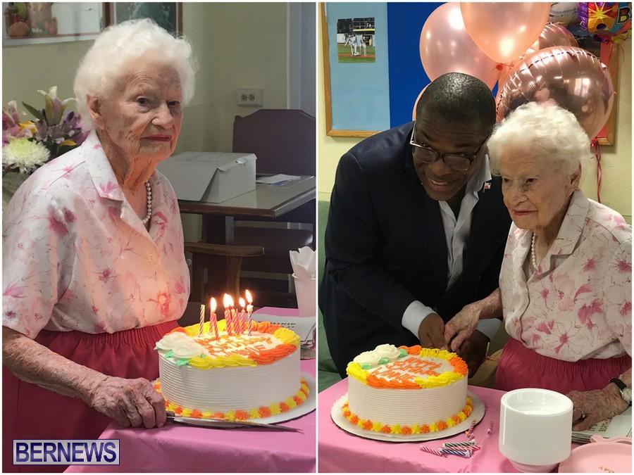 Winnie Childs Celebrates 106th Birthday Bermuda, August 10 2019 (1)