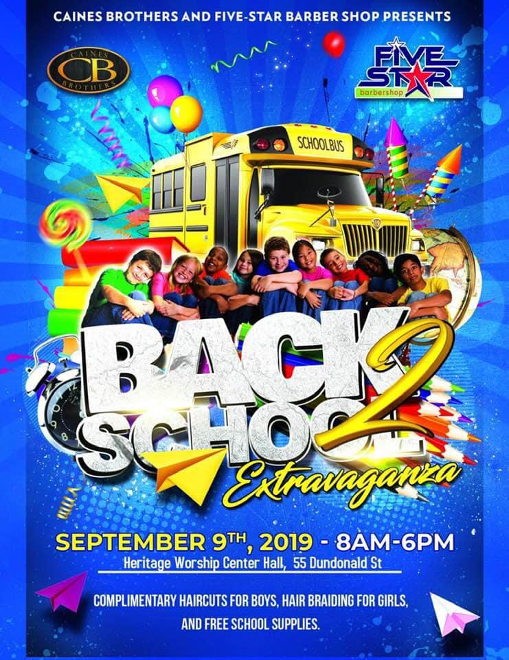 Back to School Extravaganza Bermuda Sept 2019