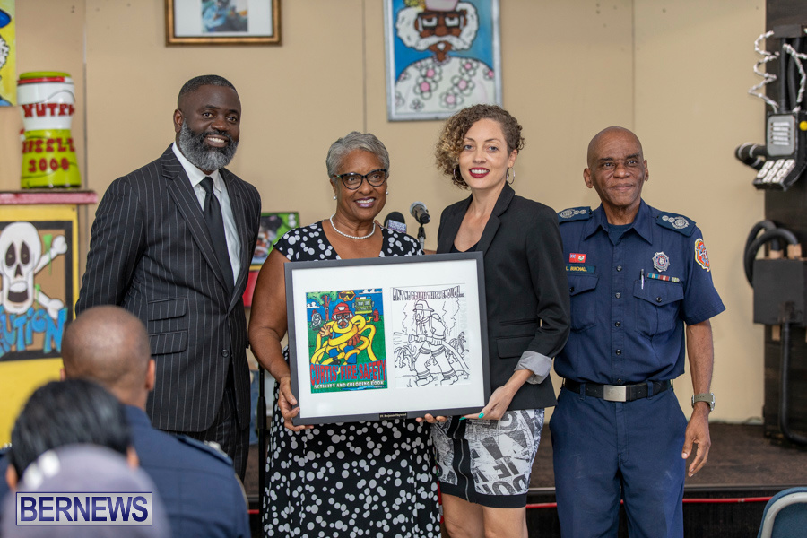 Bermuda Fire & Rescue Service Launch Fire Safety Colouring Book, September 27 2019-1406