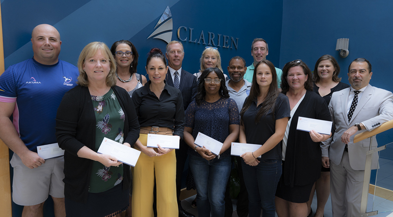 Clarien Bank Donates $95,000 To Local Charities Sept 2019