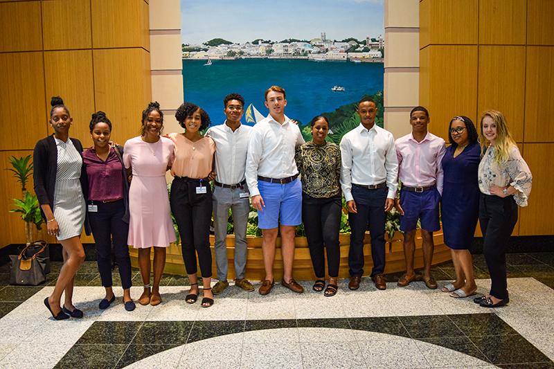 Colonial Summer Interns Bermuda Sept 2019