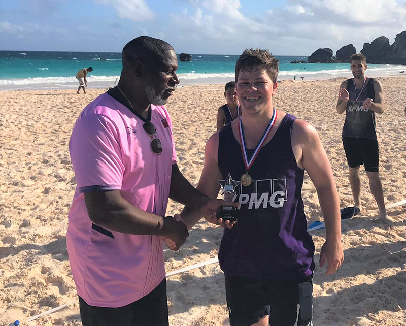Corporate Beach Soccer Tournament Bermuda September 2019 KPMG MVP