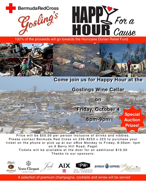 Gosling's Happy Hour For A Cause Bermuda Sept 2019
