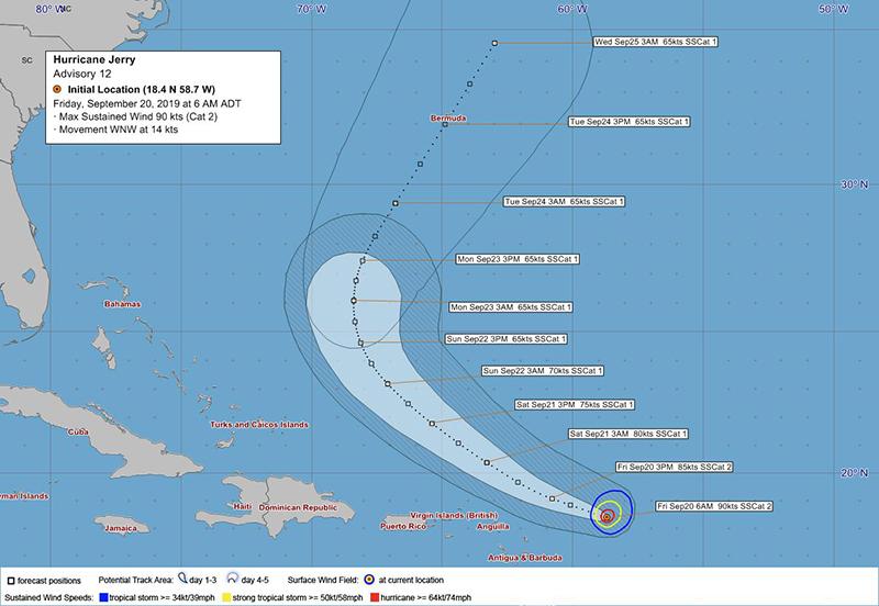 Hurricane Name Bermuda September 20 BWS