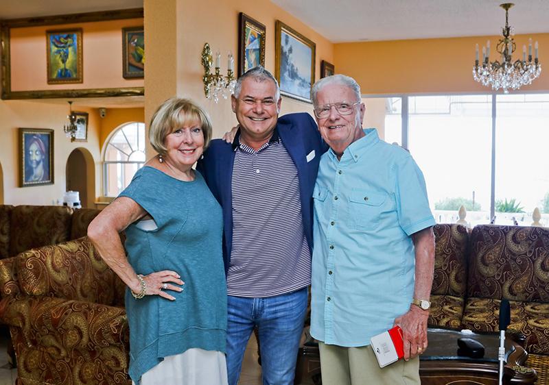 Minister DeSilva With Sharon & Ed Reynolds Bermuda Sept 2019