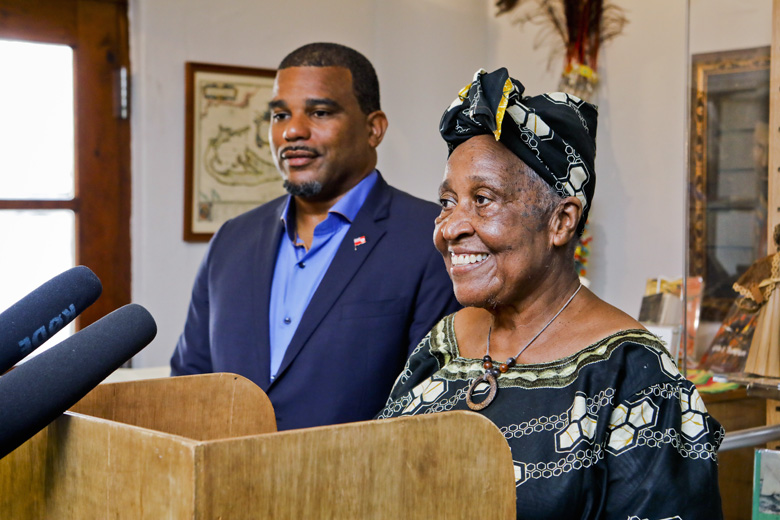 Minister Diallo Rabain and Dr Muriel Wade-Smith Bermuda Sept 6 2019 (1)