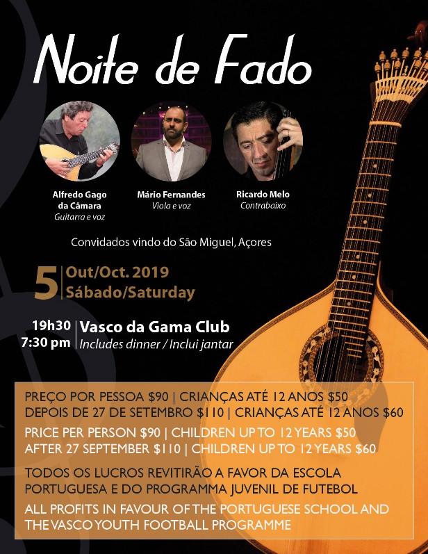 Noite de Fado Bermuda Oct 2019