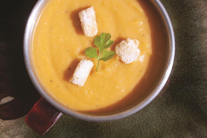 Pawpaw Bermuda September 6 2019 Carrot Pumpkin soup