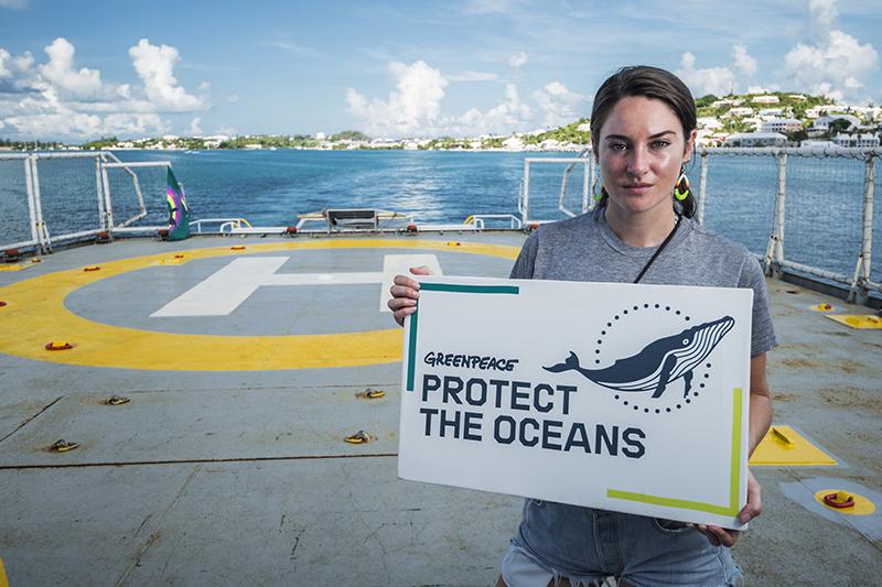 Shailene Woodley on MY Esperanza in Bermuda