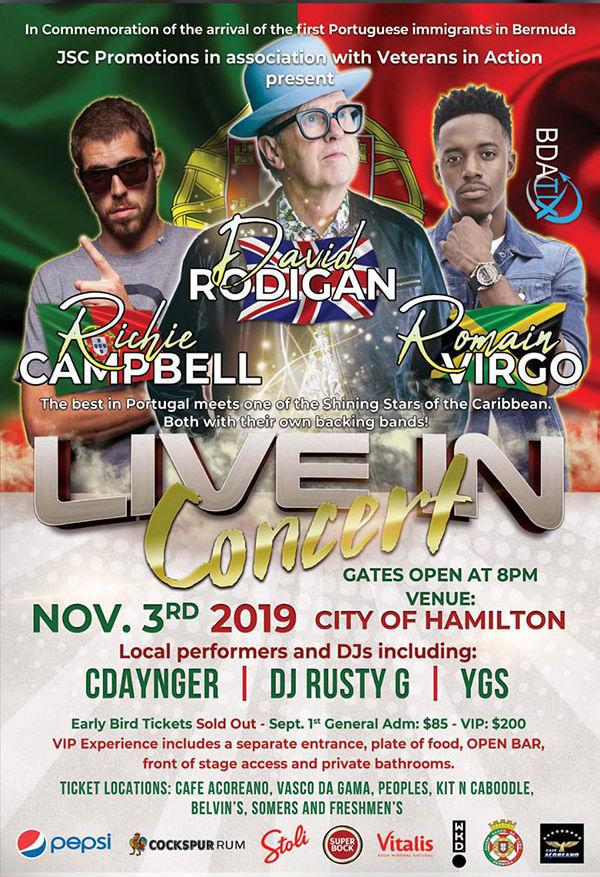 Three R Concert Bermuda Sept 2019