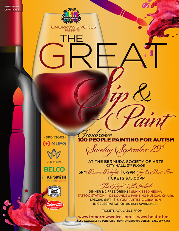 Tomorrow's Voices The Great Sip & Paint Bermuda Sept 2019