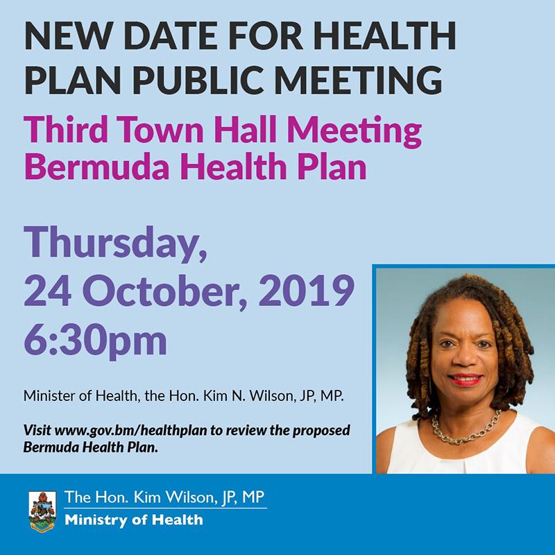 BHP Town Hall Bermuda Oct 2019