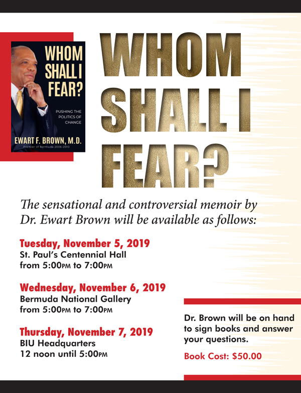 Dr Brown Whom Shall I Fear Book Bermuda Oct 2019 (1)
