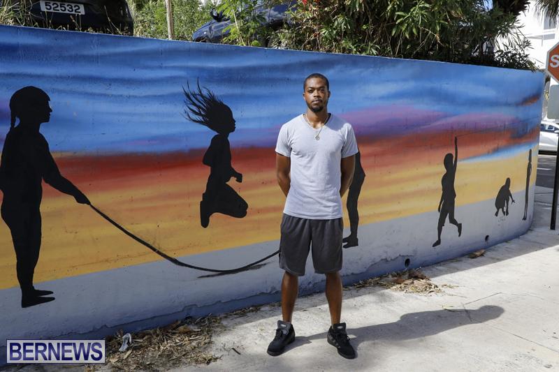 New City Mural By artist Tai-Quan Ottley Bermuda October 24 2019 (2)