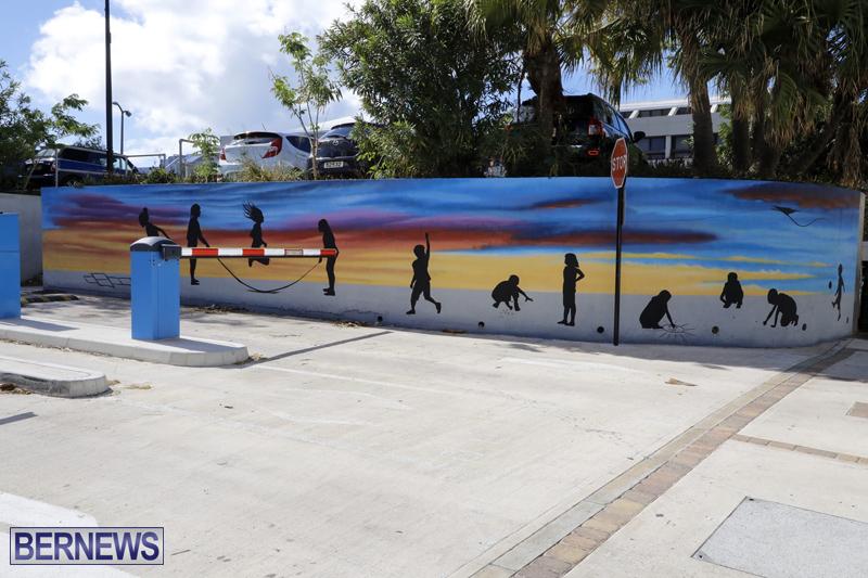 New City Mural By artist Tai-Quan Ottley Bermuda October 24 2019 (5)