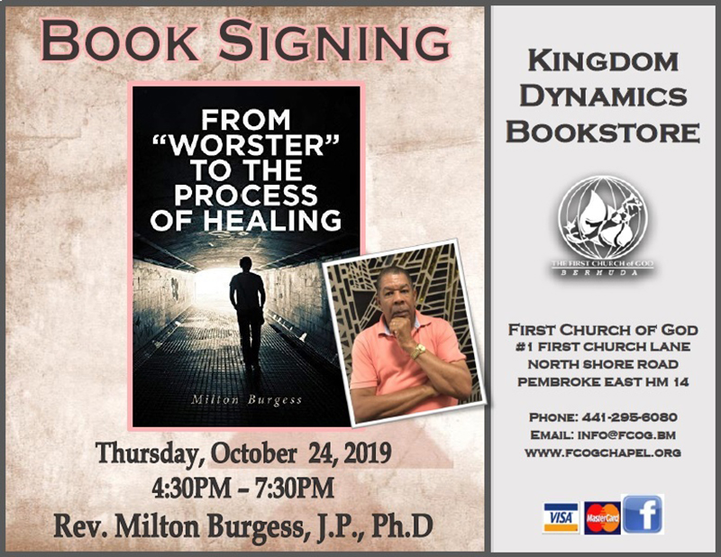 Rev Milton Burgess Book Signing Bermuda Oct 2019