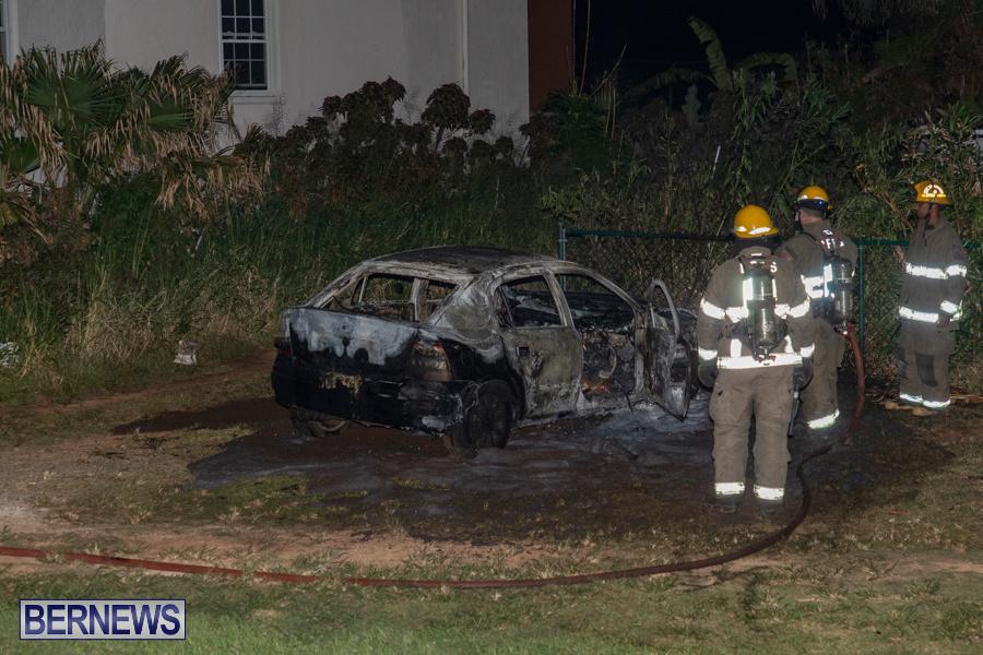 Vehicle Car Fire Bermuda, October 29 2019-0096