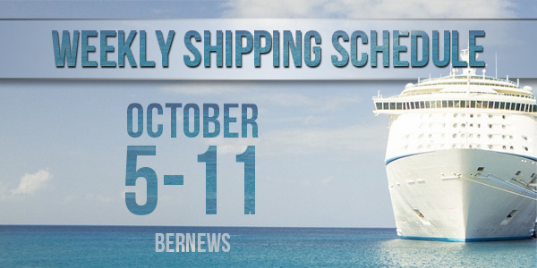 Weekly Shipping Schedule TC October 5 - 11 2019