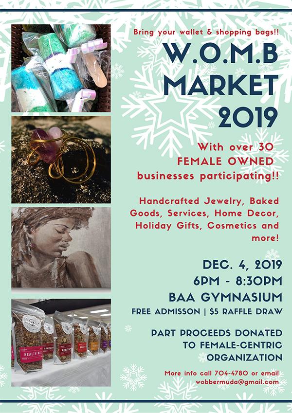 3rd Annual Female Business Vendor Market Bermuda Nov 2019