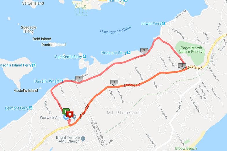 AXA Man on the Run 5K Route