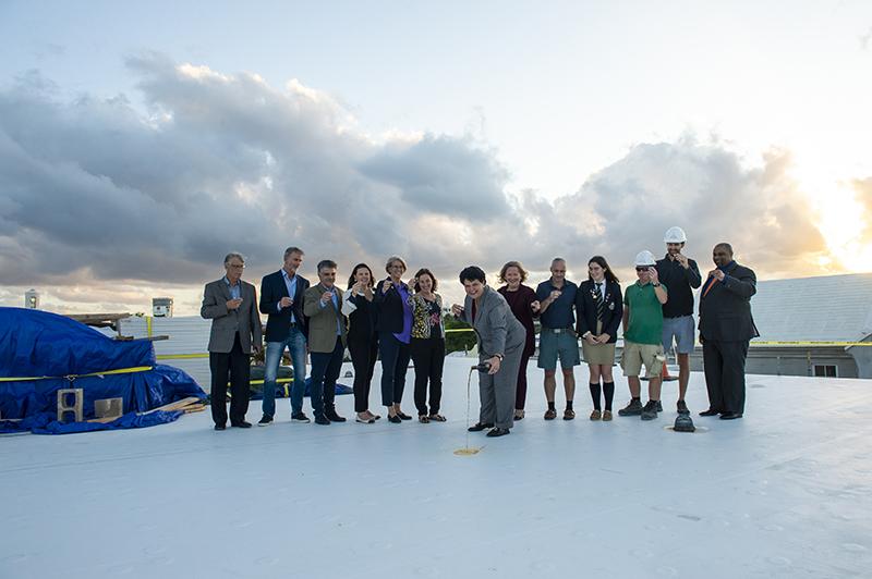 BHS Roof Wetting Ceremony Bermuda Nov 2019