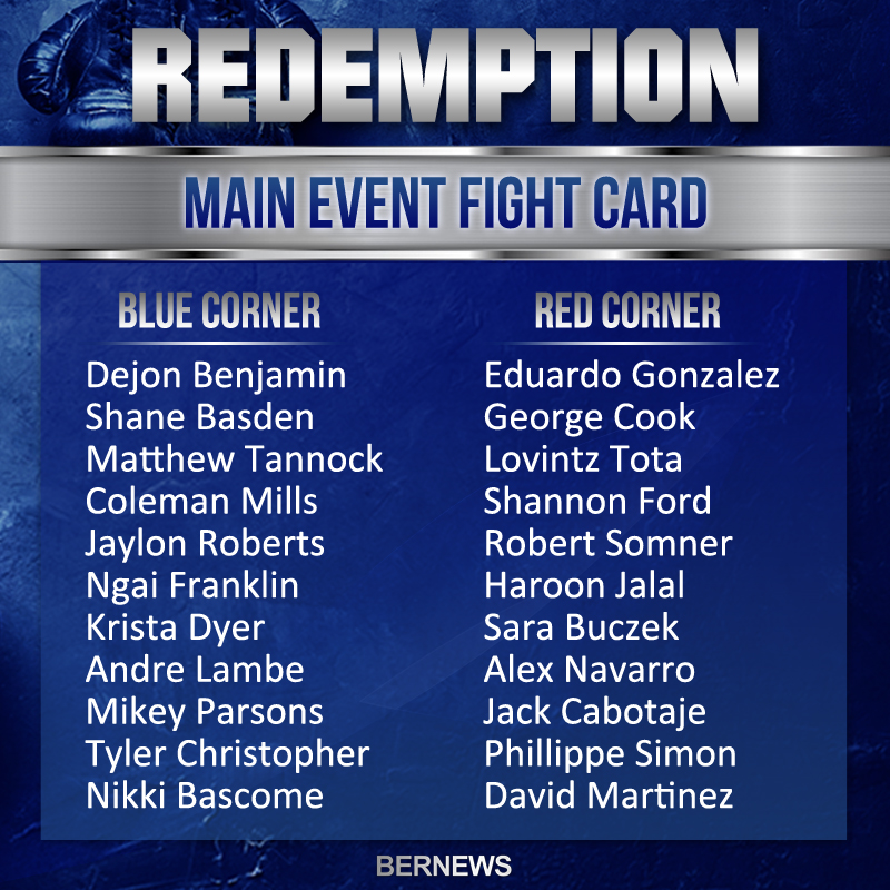 Boxing Fight Card Redemption 2018