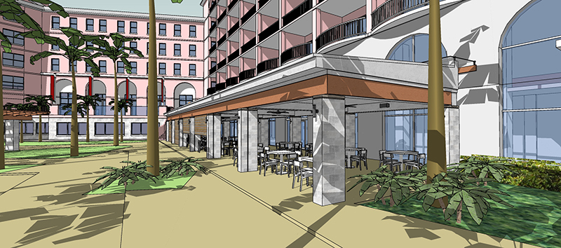 Construction Begins On New Veranda At Hamilton Princess & Beach Club