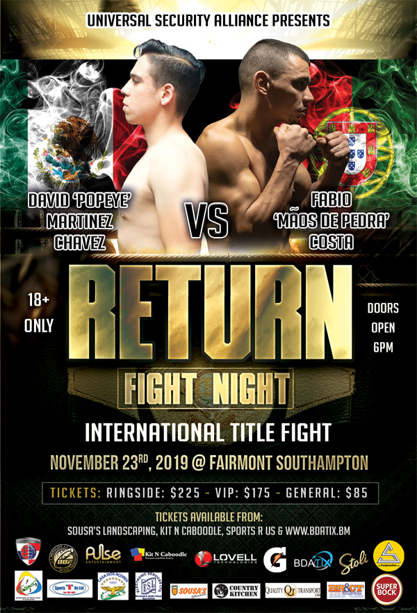Fight Night Bermuda November 2019