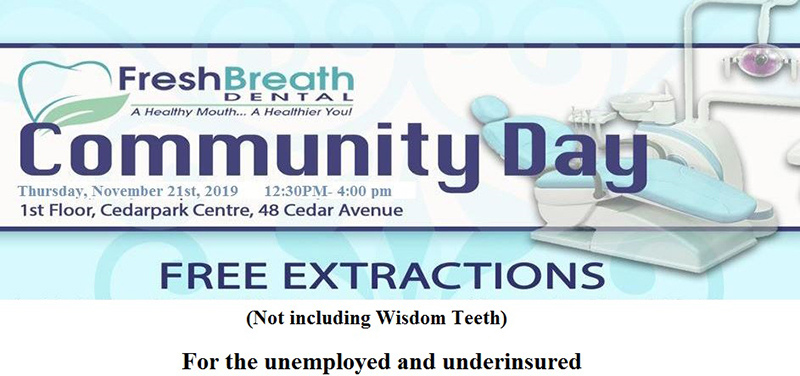 Fresh Breath Dental Free Tooth Extractions Bermuda Nov 2019