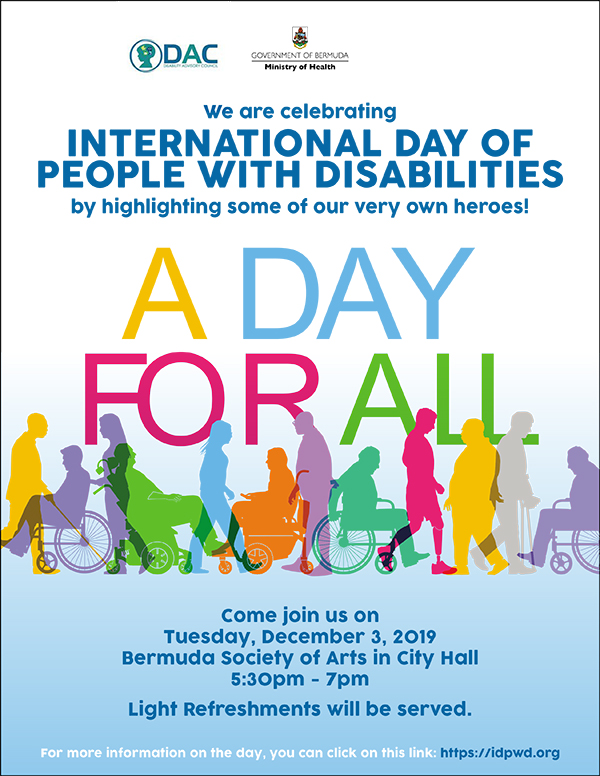 International Day For Persons With Disabilities Bermuda Nov 2019