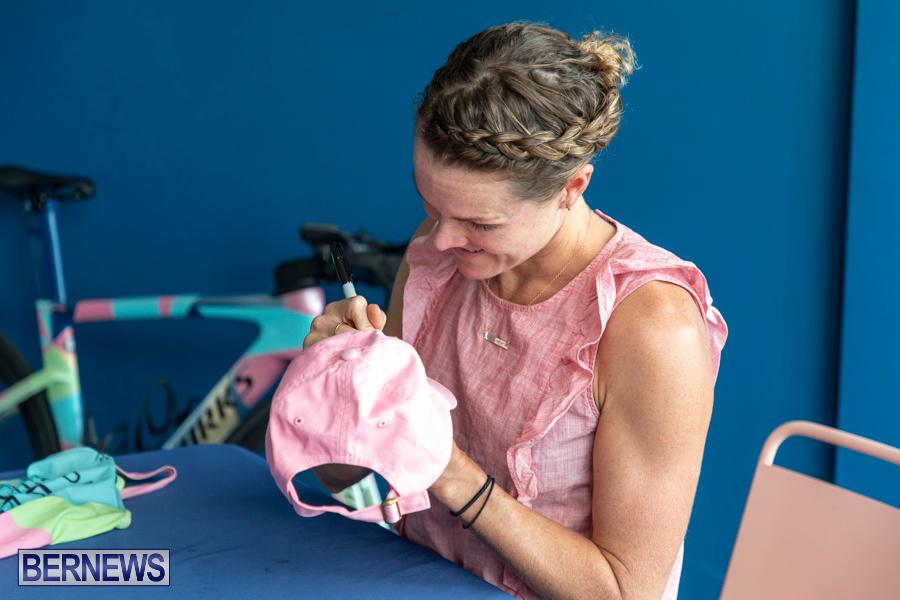 Iron Kids Card Signing triathlon champion Flora Duffy Bermuda, November 16 2019-2262