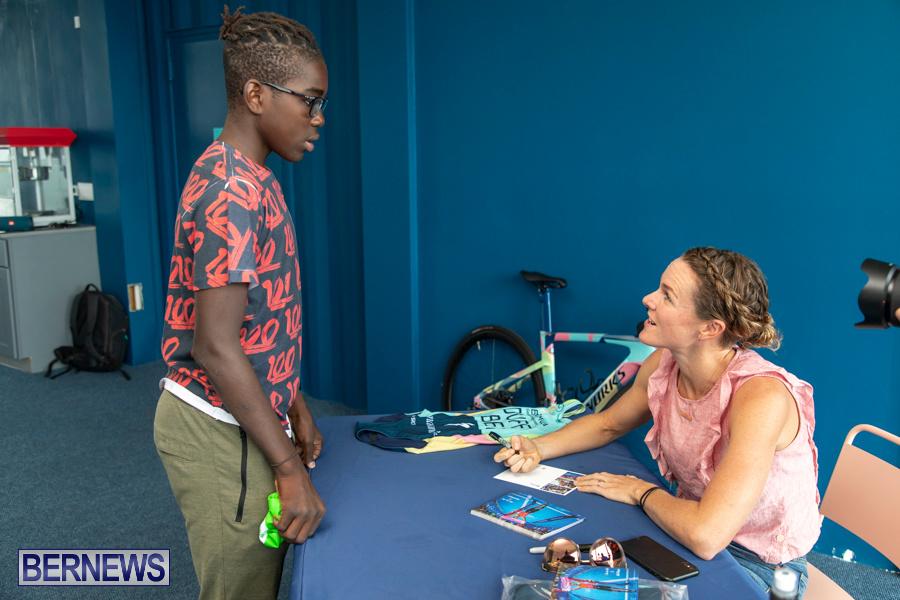 Iron Kids Card Signing triathlon champion Flora Duffy Bermuda, November 16 2019-2274