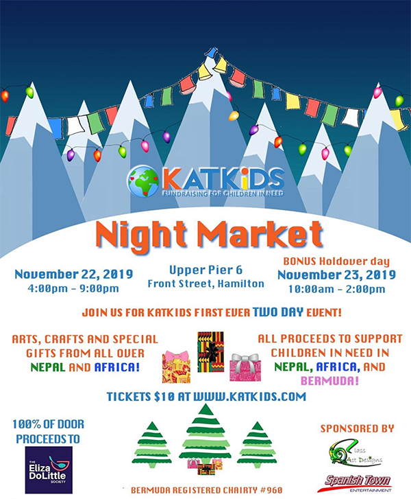 KATKiDS Night Market Bermuda Nov 2019
