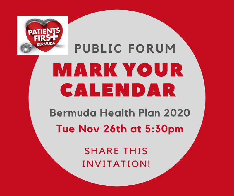 Patients First Bermuda Public Forum Nov 2019