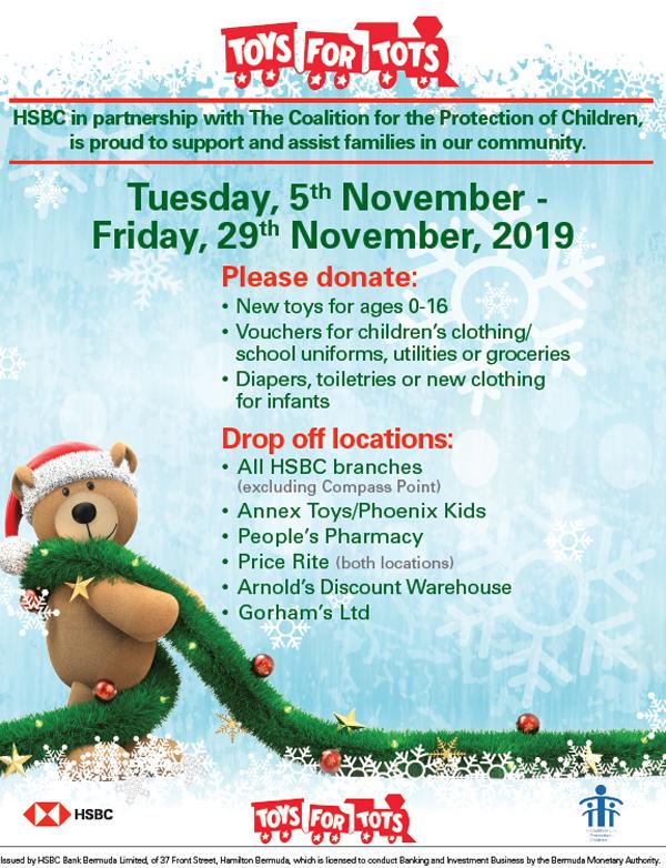 Toys for Tots Bermuda November 2019