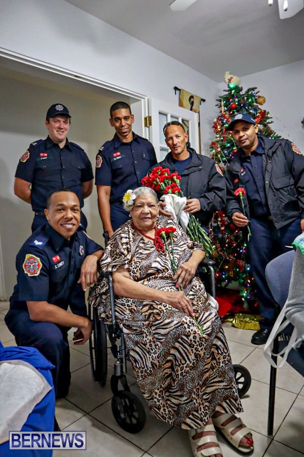 BFRS Bermuda Fire Rescue Service Christmas Community Visits Bermuda, December 25 2019-1-2