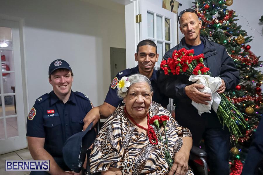 BFRS Bermuda Fire Rescue Service Christmas Community Visits Bermuda, December 25 2019-1-3