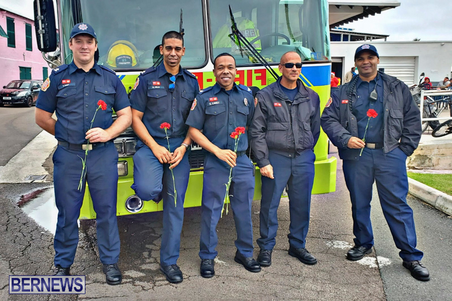 BFRS Bermuda Fire Rescue Service Christmas Community Visits Bermuda, December 25 2019-2