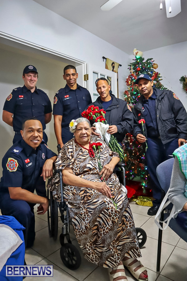 BFRS Bermuda Fire Rescue Service Christmas Community Visits Bermuda, December 25 2019-39