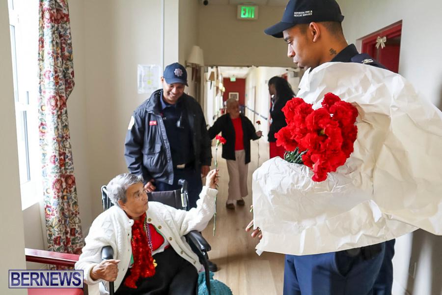 BFRS Bermuda Fire Rescue Service Christmas Community Visits Bermuda, December 25 2019-4