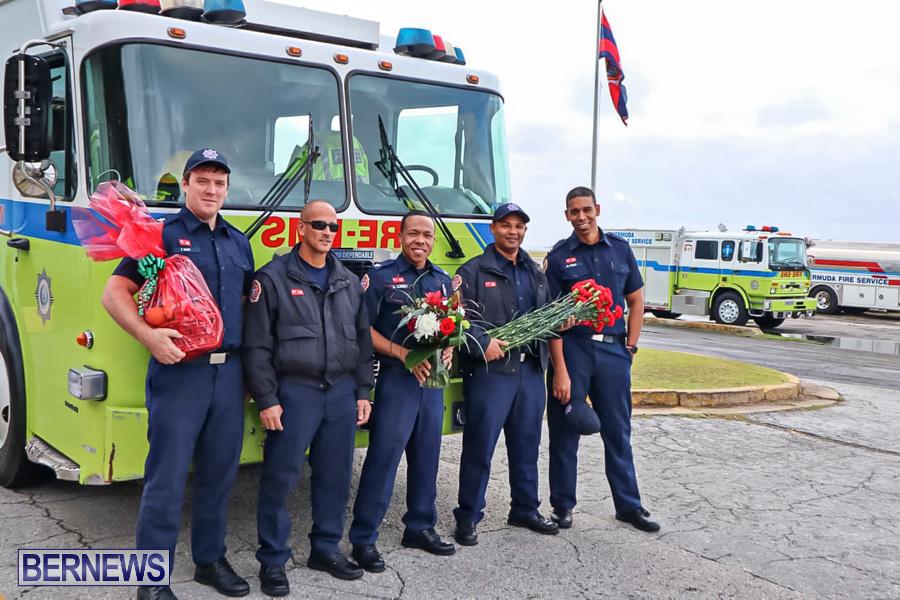 BFRS Bermuda Fire Rescue Service Christmas Community Visits Bermuda, December 25 2019-5-2