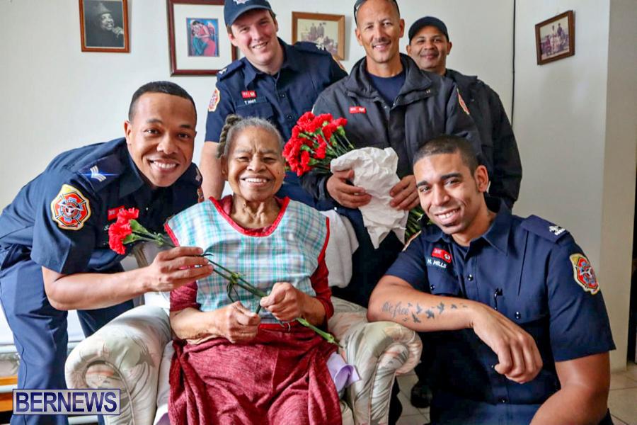 BFRS Bermuda Fire Rescue Service Christmas Community Visits Bermuda, December 25 2019-6