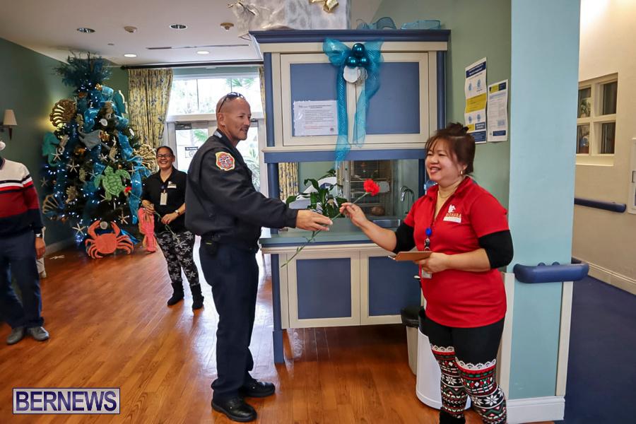 BFRS Bermuda Fire Rescue Service Christmas Community Visits Bermuda, December 25 2019-7-2