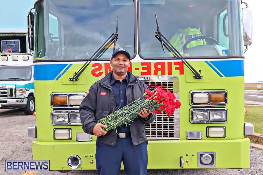 BFRS Bermuda Fire Rescue Service Christmas Community Visits Bermuda, December 25 2019-8-2