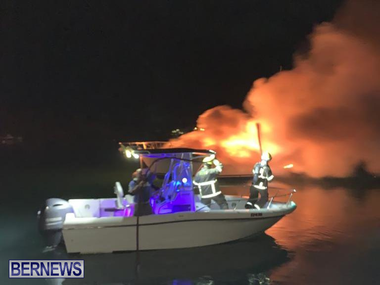 Boat Fire St David's Bermuda, December 6 2019 (1)