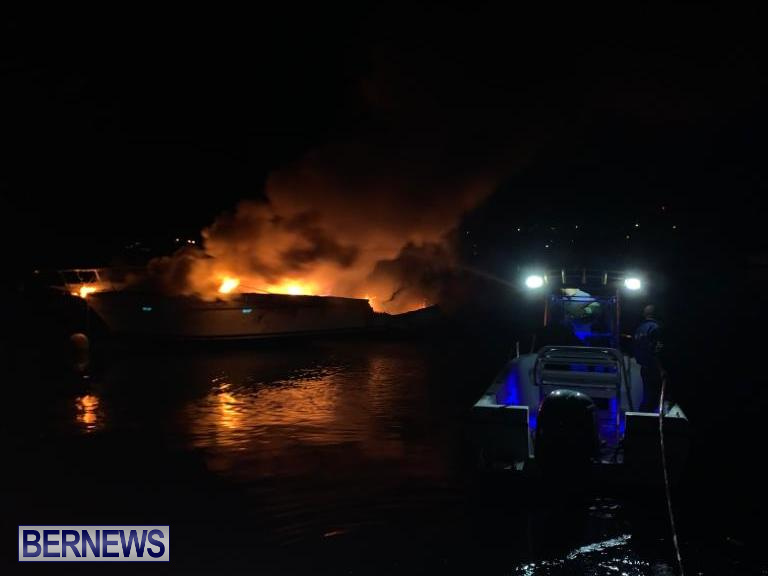 Boat Fire St David's Bermuda, December 6 2019 (2)