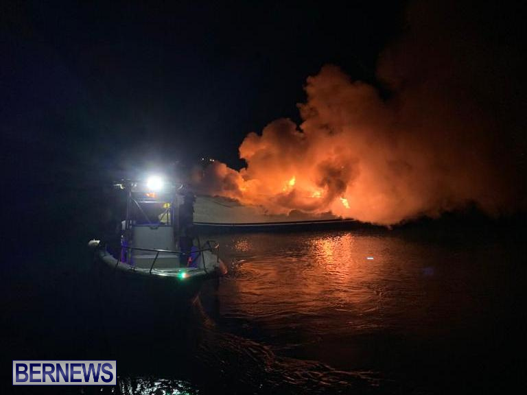 Boat Fire St David's Bermuda, December 6 2019 (4)