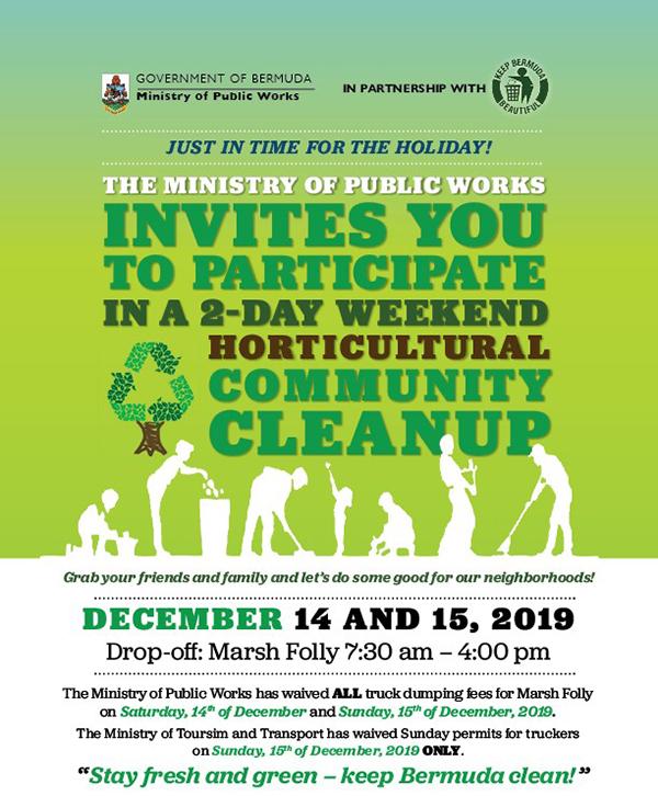 Horticultural Community Cleanup Bermuda Dec 2019